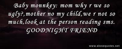 good night baby monkey : moon why are we so uhly