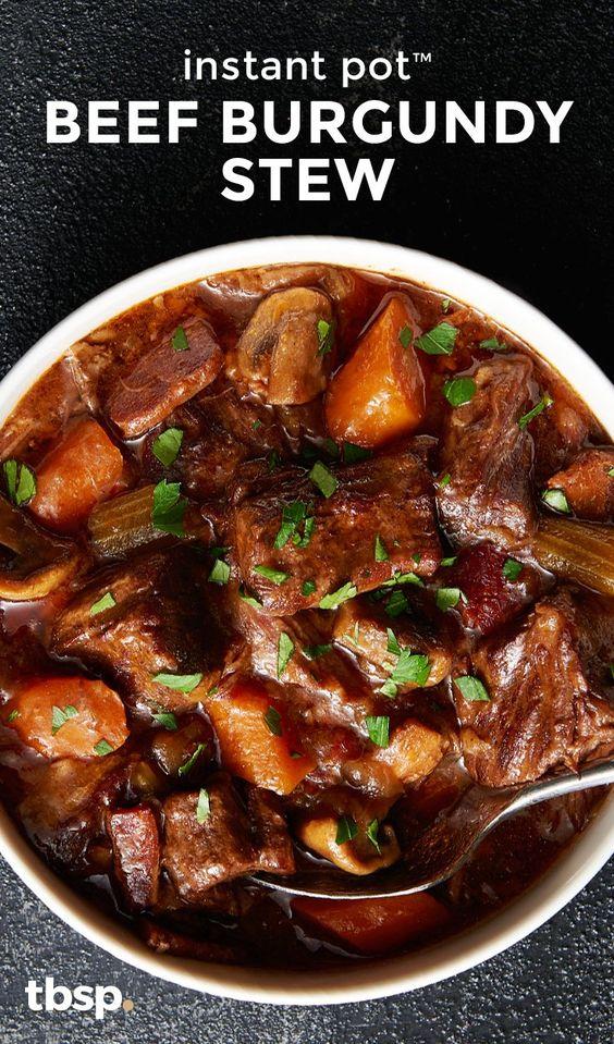 Instant Pot™ Beef Burgundy Stew #recipes #dinnerrecipes #goodfastrecipes #goodfastrecipesfordinner #food #foodporn #healthy #yummy #instafood #foodie #delicious #dinner #breakfast #dessert #lunch #vegan #cake #eatclean #homemade #diet #healthyfood #cleaneating #foodstagram