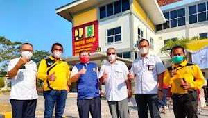 Hari Kedua, Pegawai PUPR dan Masyarakat Sangat Antusias Ikuti Vaksinasi di Balai PPW Riau