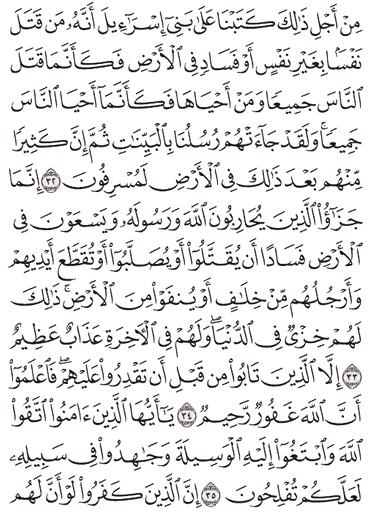 Tafsir Surat Al-Maidah Ayat 31, 32, 33, 34, 35