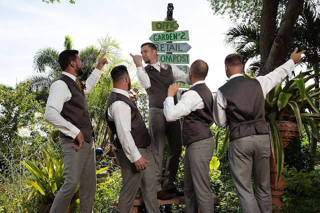 groomsmen portrait at Shadowood Farms wedding in Palm City Florida photo by Houghton Photography