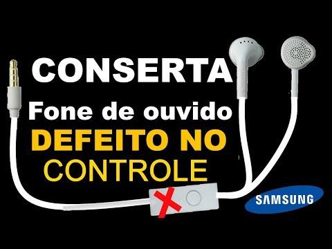 Como Consertar Fone de ouvido samsung com defeito no controle como arrumar