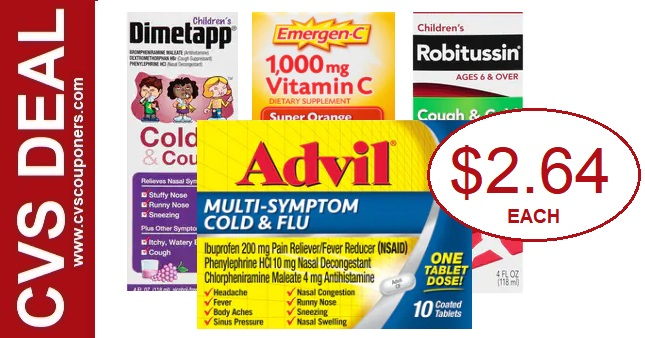 CVS Deals on Advil, Emergen-C & Robitussin - 818-824