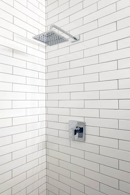 shower hardware installed