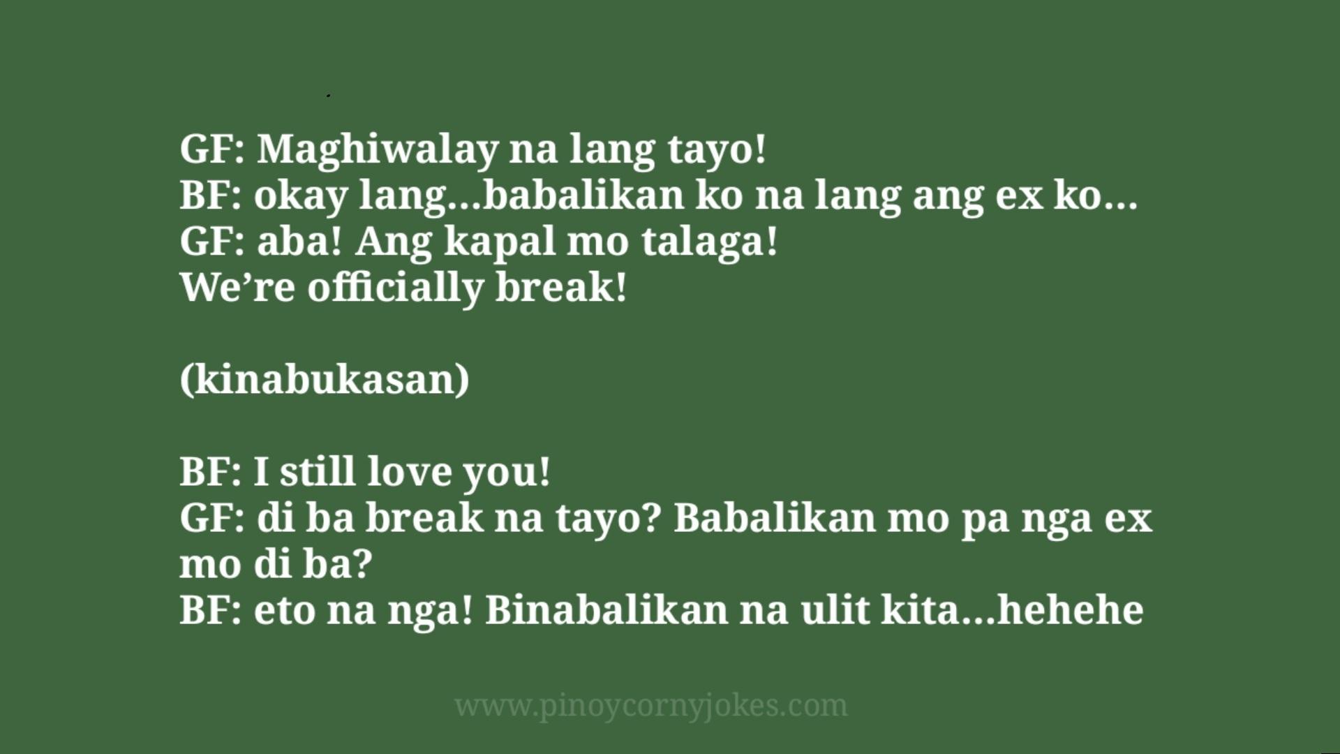 maghiwalay nalang pinoy corny jokes mag syota