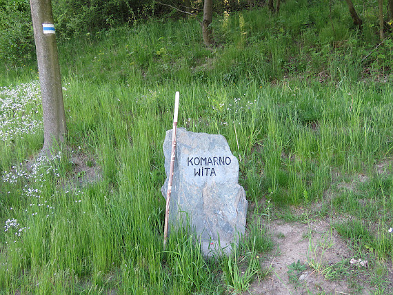Wieś Komarno w Sudetach