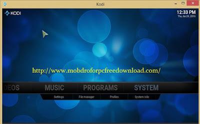 Kodi and Click the setting