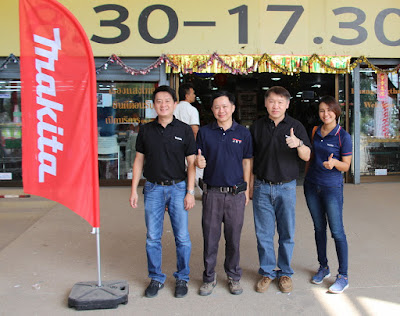 Makita Tools and Parts distributor visits Buriram Ruangsangthai