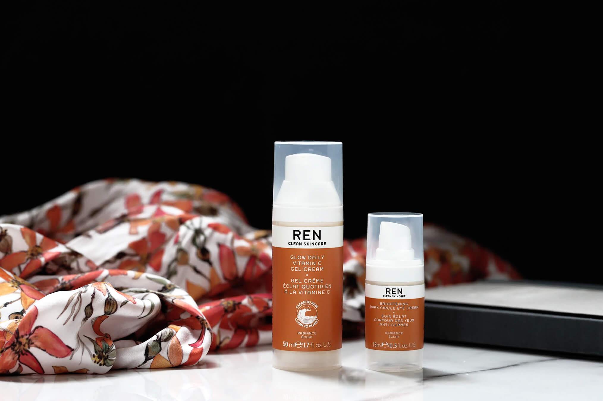 REN Glow Gel crème à la Vitamine C contour des yeux éclat