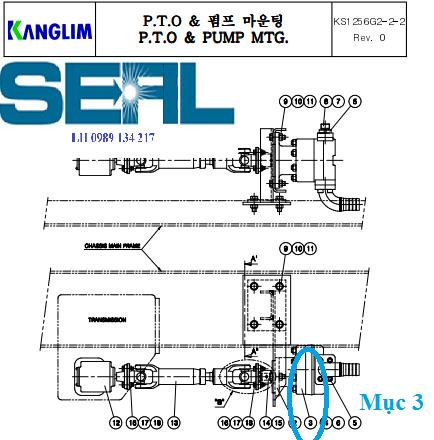 Bơm thuỷ lực cần của cẩu Kanglim 6 tấn KS1253-KS1254-KS1255-KS1256-H1085453-G20W