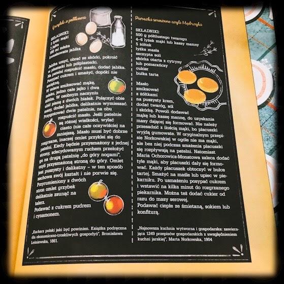 """""""Zjeść głowę cukru. Ilustrowana historia kuchni nie tylko dla dzieci""""  Małgorzata Kur, Małgorzata Kwapińska, Wydawnictwo Kocur Bury"""