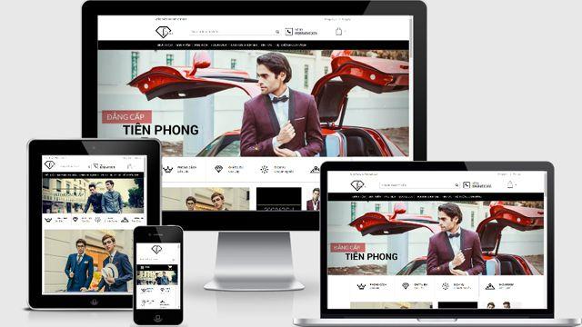 template blogspot bán hàng thời trang FashionShop