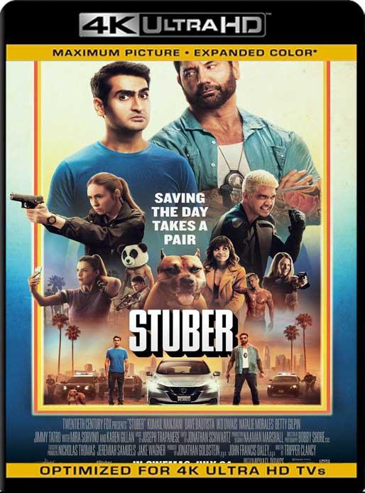 Stuber: Locos al volante (2019) 4K 2160p UHD [HDR] Latino [GoogleDrive]