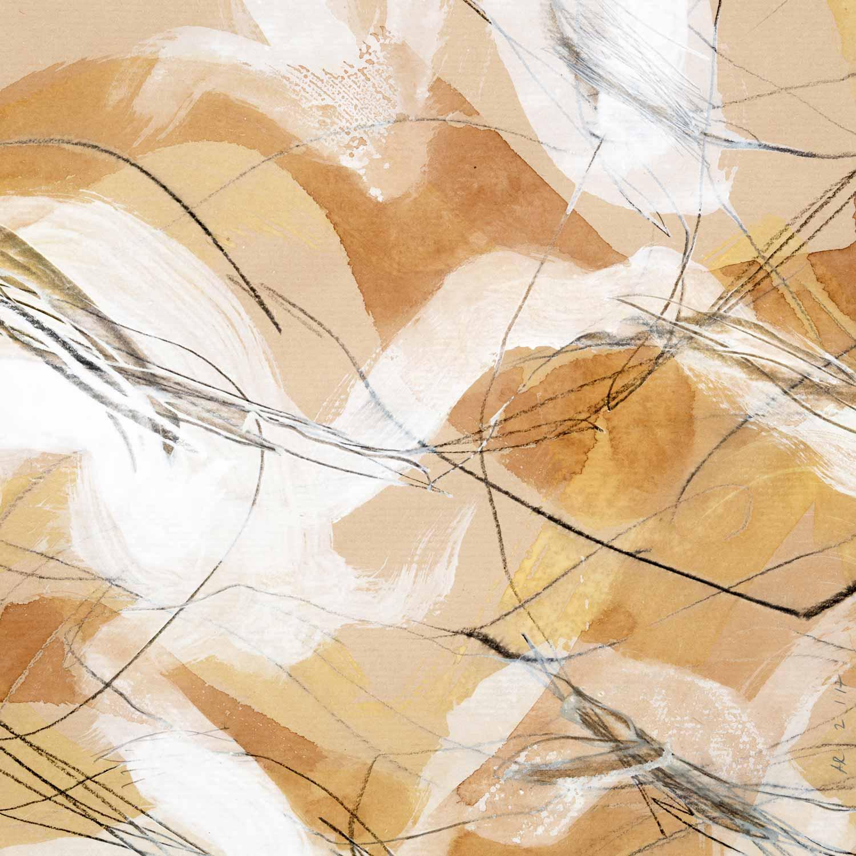 Annik Reymond - Acrylique graphite sur kraft