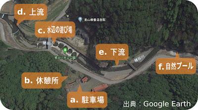 猪谷川水辺公園のマップ