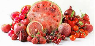 Buah dan sayur warna merah