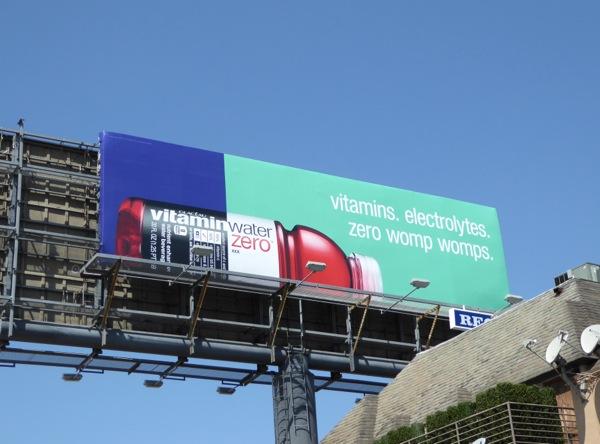 Vitamin Water zero womp womps billboard