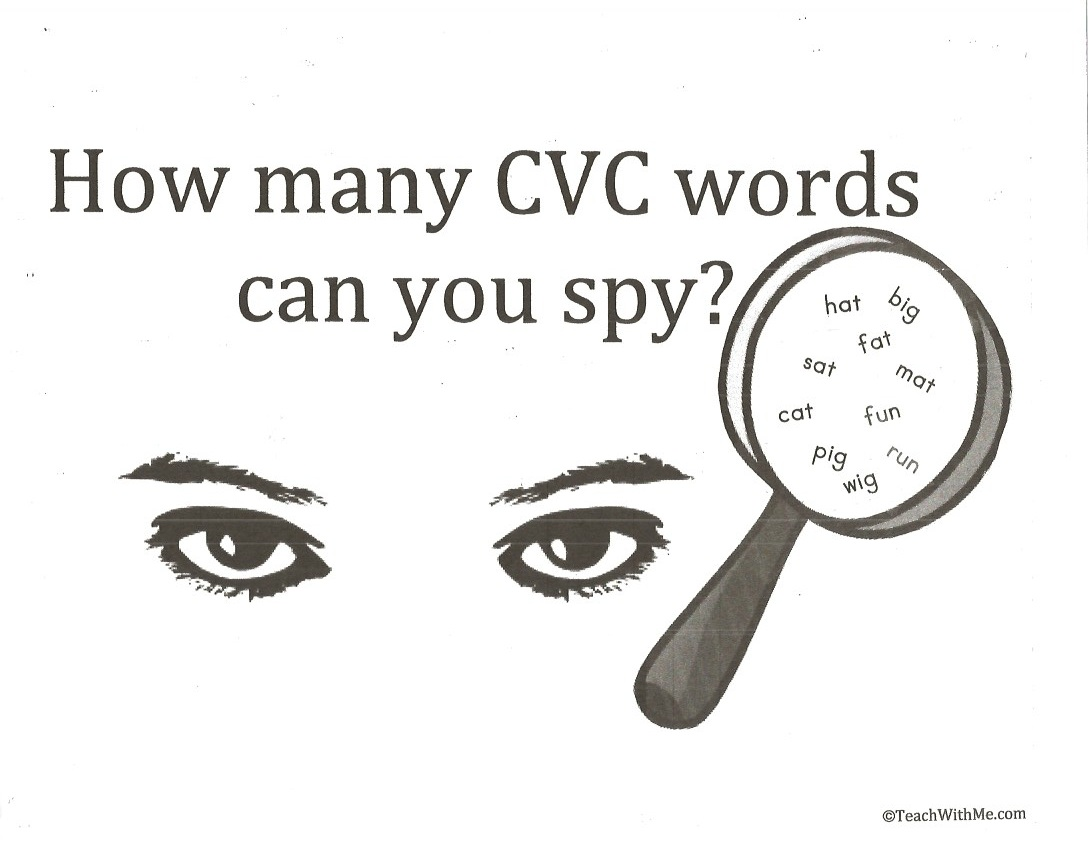 Cvc Word Art Anchor Charts