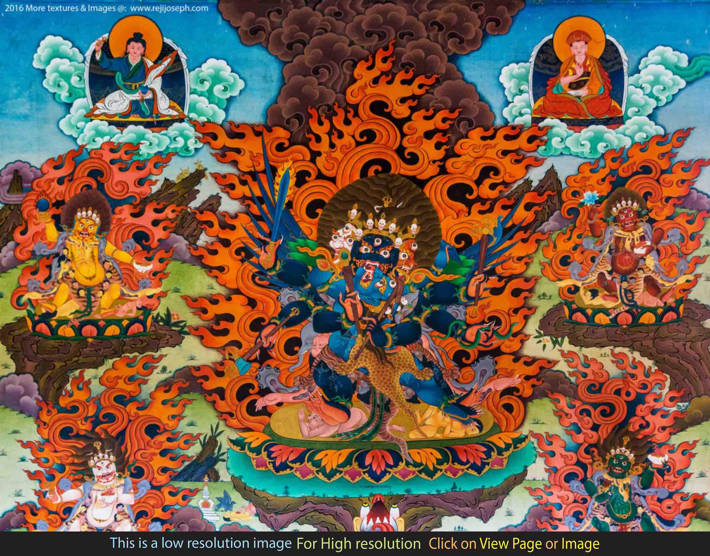 Buddhist art wall painting 001