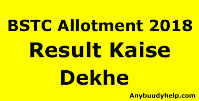 bstc rajasthan allotment result kaise dekhe by anybuddyhelp