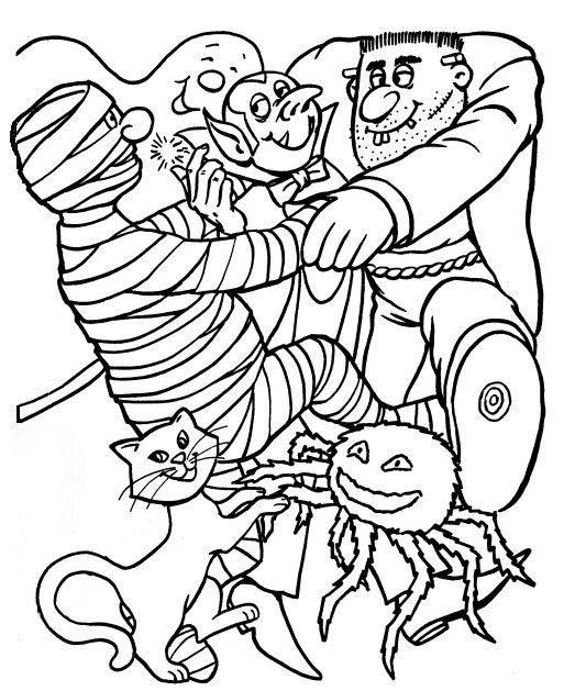 halloween printables coloring pages for kids | HALLOWEEN COLORINGS