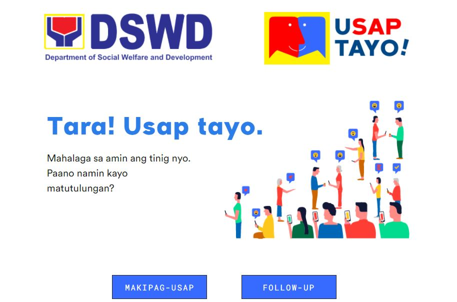 DSWD UsapTayo website