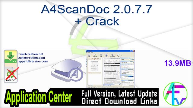 A4ScanDoc 2.0.7.7 + Crack