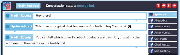 Cryptocat offers End-to End Encrypted Facebook Chat for Users