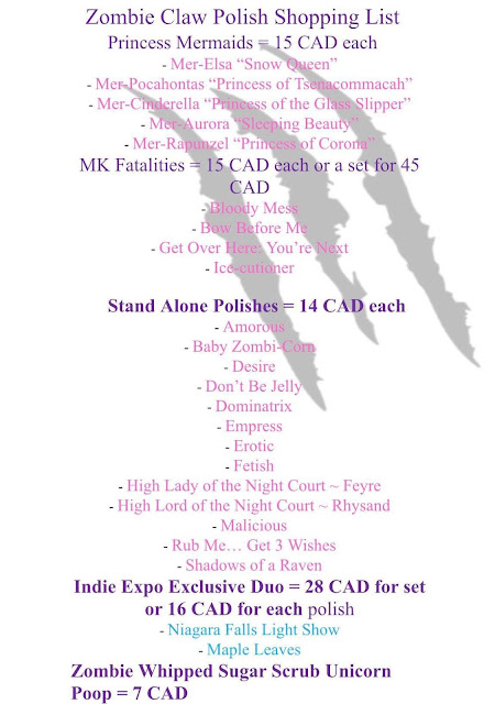 Zombie Claws - Indie Expo Canada Shopping List 2019
