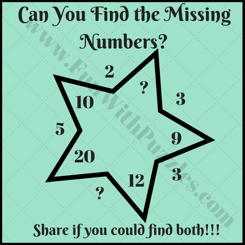 Interesting Fun Star Math Puzzle & Brain Teasers for Kids - Fun With ...
