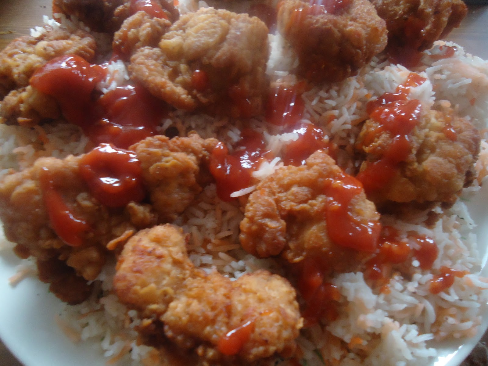 KFC Style Hot Shots With Arabian Rice
