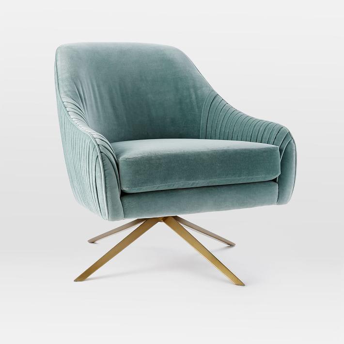 Swivel Chair West Elm Vintage Dining Roar + Rabbit Chair,