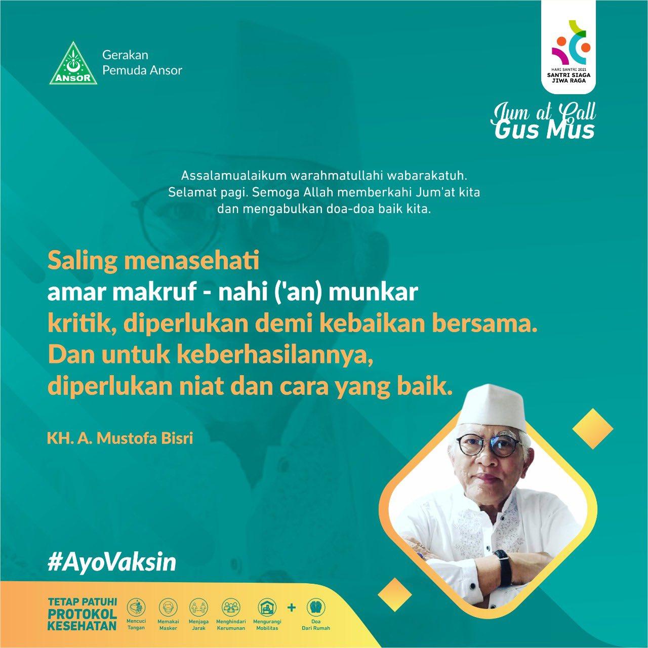 Gus Mus - Saling Menasehati Amar Makruf
