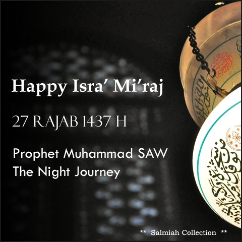 Happy Isra' Mi'raj 1437 H