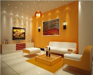 A mi manera pintar y decorar la sala en color mango y for Colores para pintar living