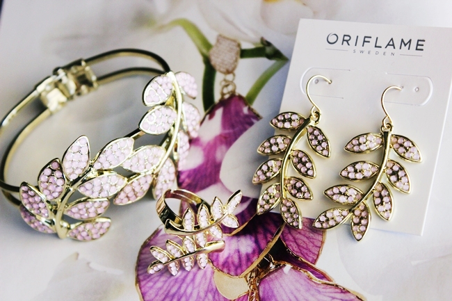 Oriflame Verdana jewelry set bracelet ring and earrings