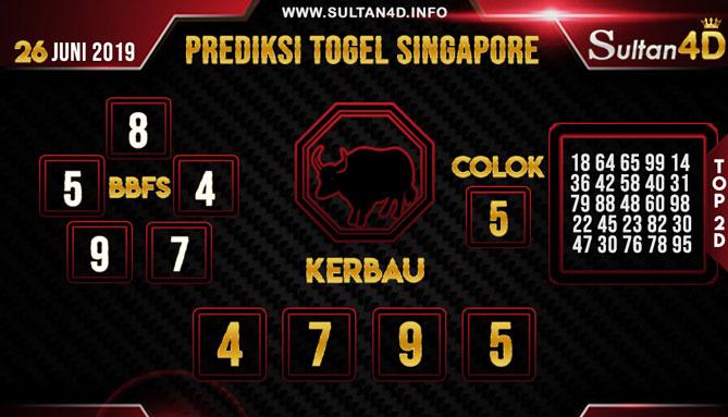 PREDIKSI TOGEL SINGAPORE SULTAN4D 26 JUNI 2019