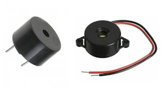Passive or active piezoelectric buzzers with resonant case