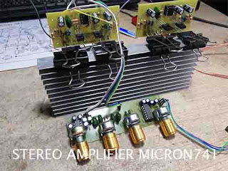 Power Amplifier Micron 741 - Scheamatic