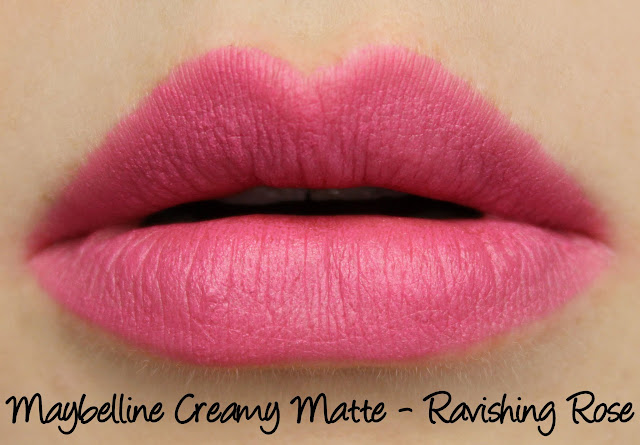 Maybelline Colorsensational Creamy Matte Lipsticks - Ravishing Rose Swatches & Review