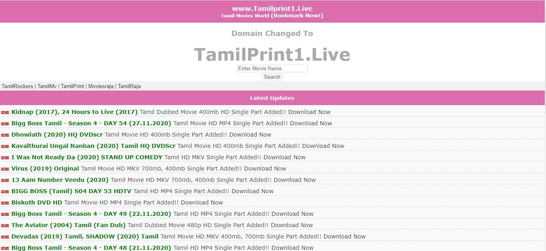 Tamilprint cc - Download Free All Latest Bollywood, Hollywood, Tamil, Telugu, Kannada Movies And Web Series