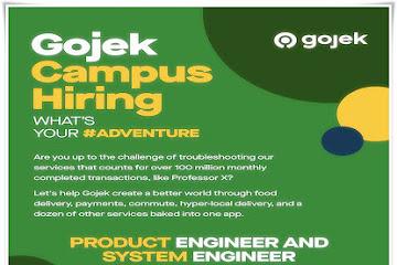 Lowongan Kerja Bandung Product Engineer & System Engineer Gojek
