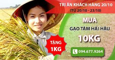 Chương trình khuyến mại vàng ngày 20/10 tại siêu thị gạo ngon Hải Hậu