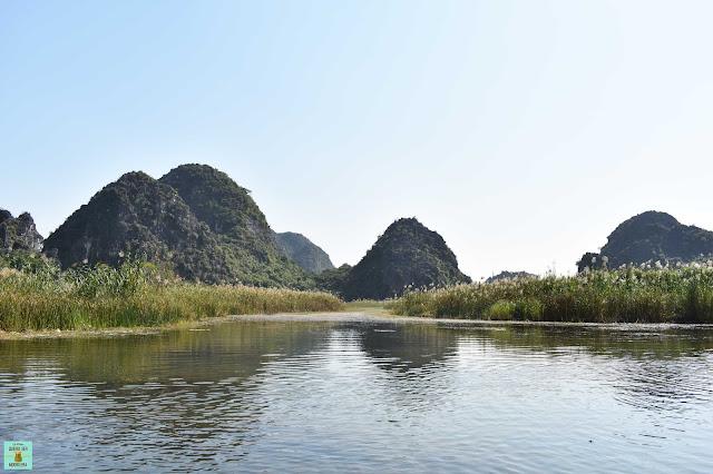 Van Long Nature Reserve en Ninh Binh, Vietnam