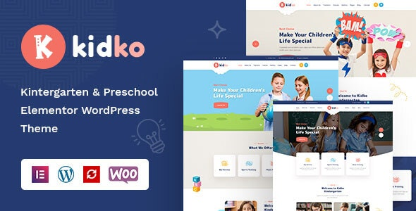 Kidko Kindergarten Baby Care WordPress Theme Free Download, Nulled