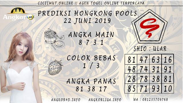 PREDIKSI HONGKONG POOLS 22 JUNI 2019