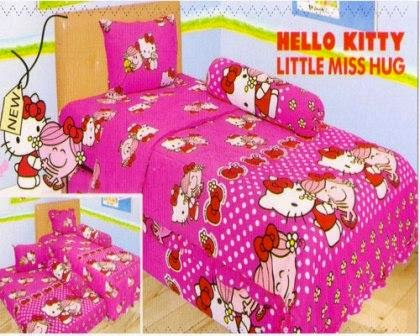 Sprei internal motif Hello Kitty Little Miss Hug