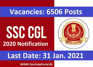 SSC CGL 2020 Notification