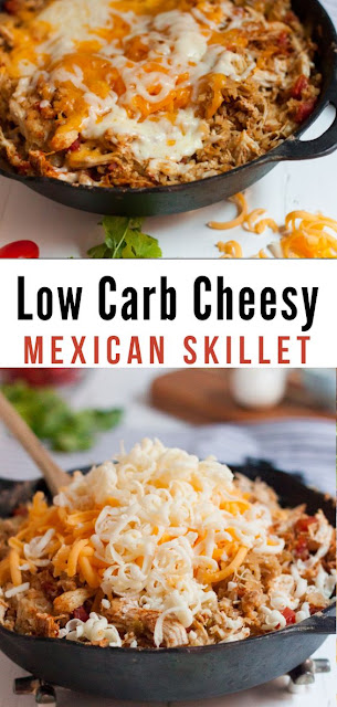 Low Carb Cheesy Mexican Chicken Skillet