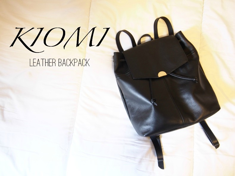 Kiomi leather backpack
